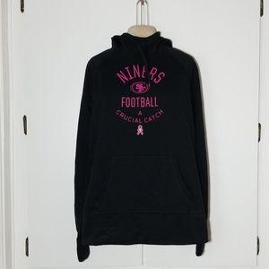 Nike 49ers Pink/Black Hoodie